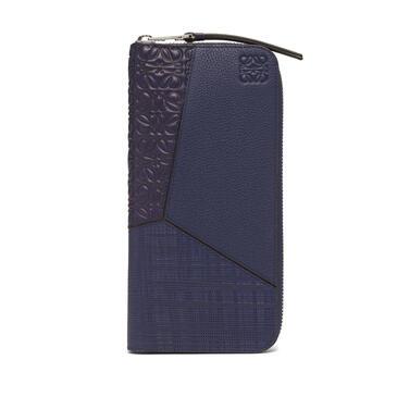 LOEWE Puzzle open wallet in calfskin Navy Blue pdp_rd