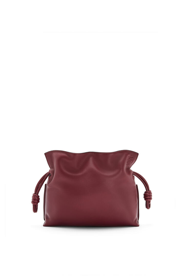 LOEWE Mini Flamenco clutch in nappa calfskin Malbec pdp_rd