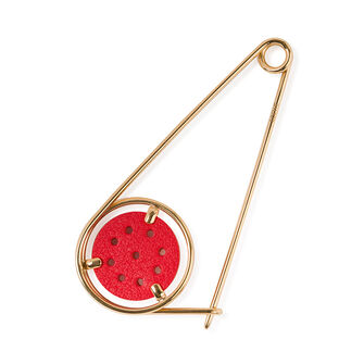 LOEWE Small Meccano Pin Red/Gold front