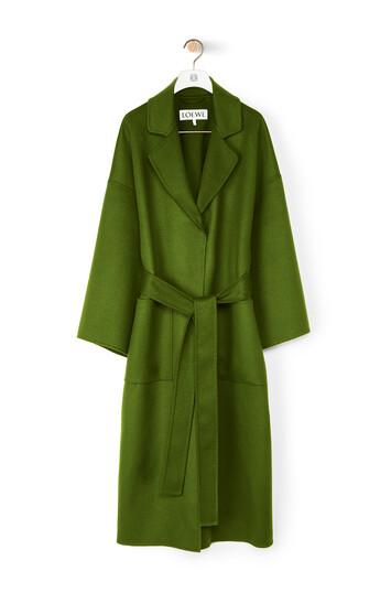 LOEWE Oversize Belted Coat Verde Kaki front