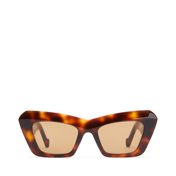 LOEWE Acetate Cateye Sunglasses ハバナ front