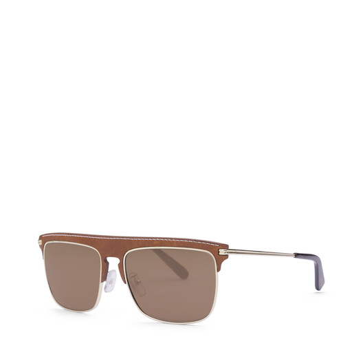 LOEWE Square Sunglasses Brown/Dark Brown front