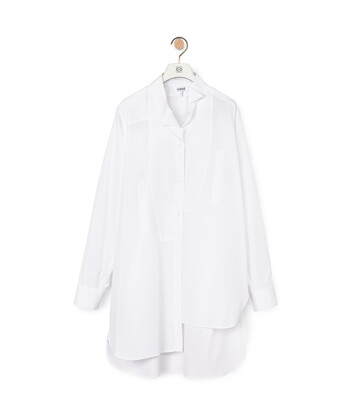 LOEWE Long Asymmetric Shirt White front