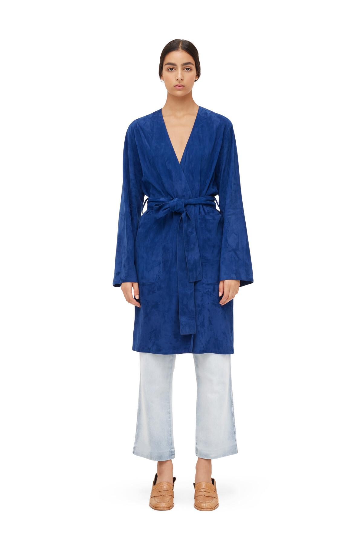 LOEWE Abrigo Azul Royal Oscuro front