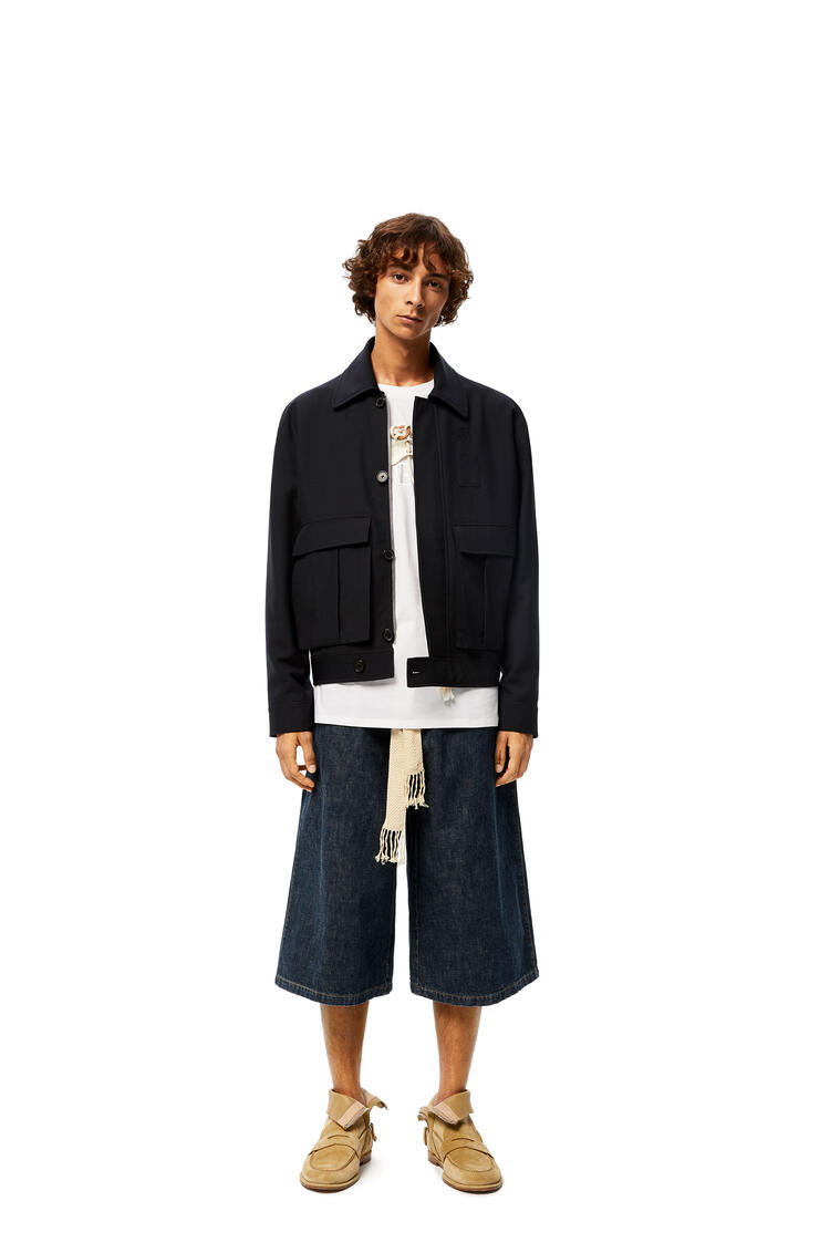 LOEWE Drawstring Shorts In Denim Indigo pdp_rd