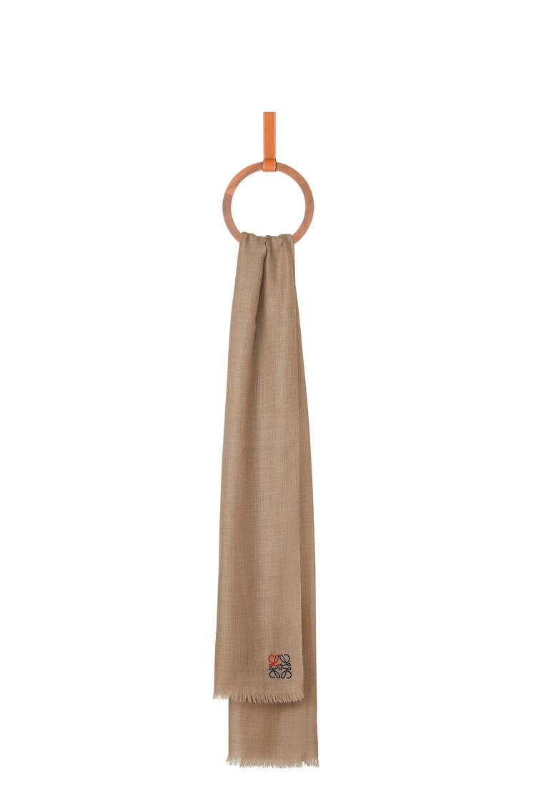 LOEWE LOEWE Anagram scarf in cashmere Beige pdp_rd