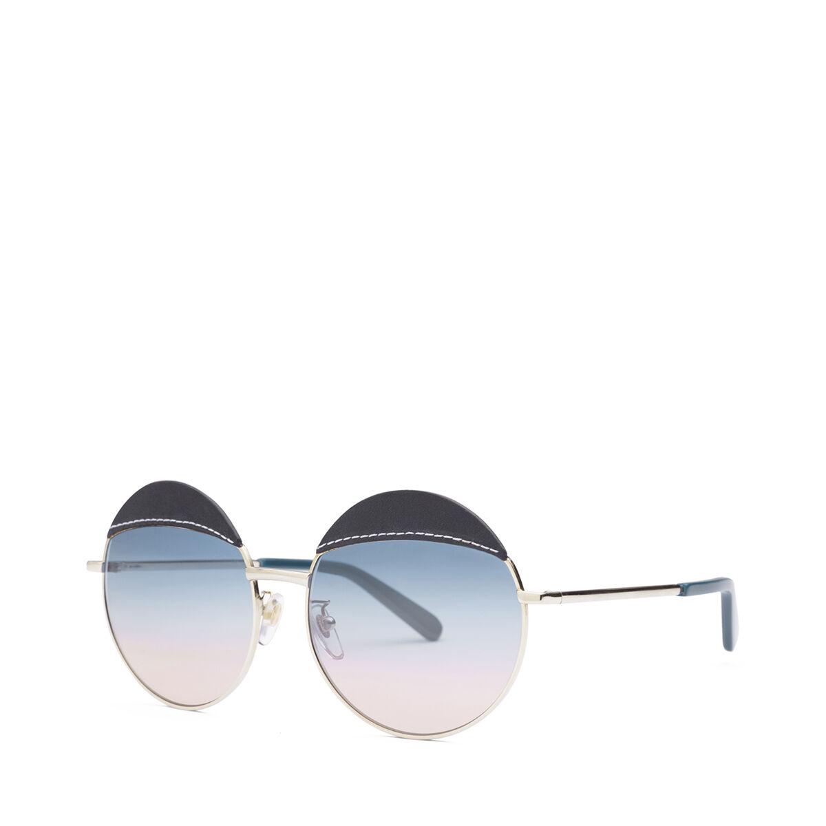 LOEWE Round Sticth Sunglasses Blue/Blue Gradient Peach front