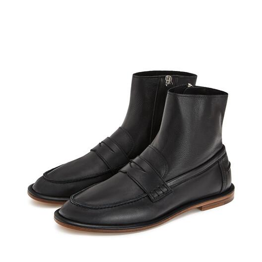 LOEWE Loafer Boot Black front