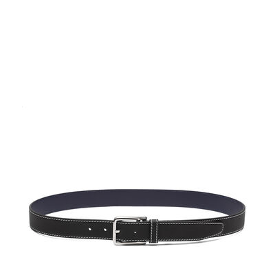 LOEWE Rectangular Belt Black/Navy/Palladium front