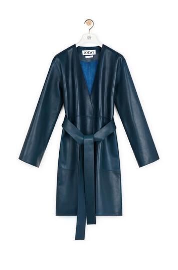 LOEWE Short Coat Varsity Blue front