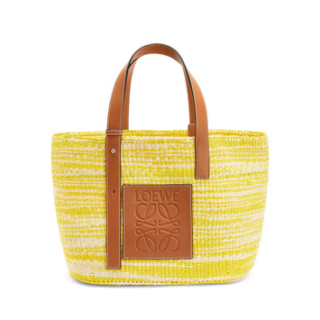 LOEWE Paula's Basket Small Bag yellow/tan front