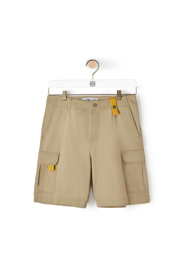 LOEWE Cargo Shorts In Cotton 米色 pdp_rd