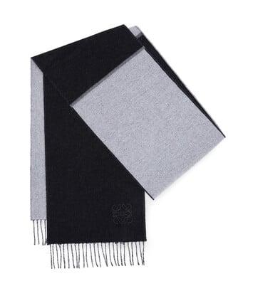 LOEWE 30X180 ウィンドウ スカーフ ブラック/ホワイト front