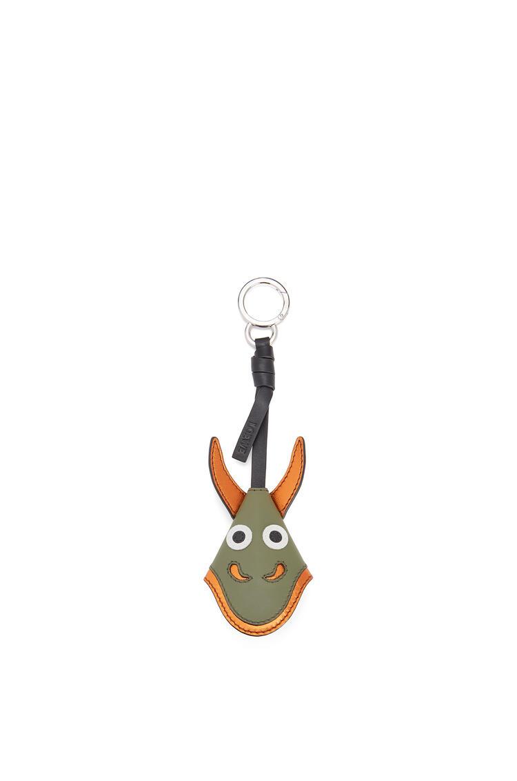 LOEWE Dragon Key Charm In Calfskin Moss pdp_rd