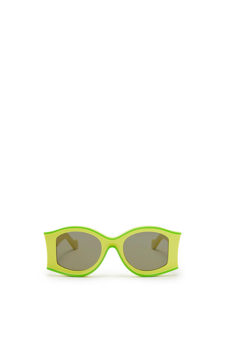 LOEWE PAULA´S IBIZA LARGE SUNGLASSES Neon Yellow/Neon Green pdp_rd