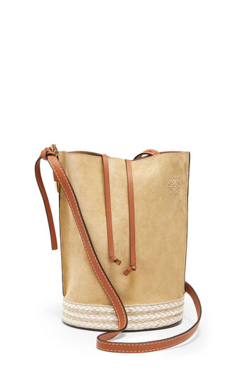 LOEWE Gate Bucket Espadrillas Bag Gold front
