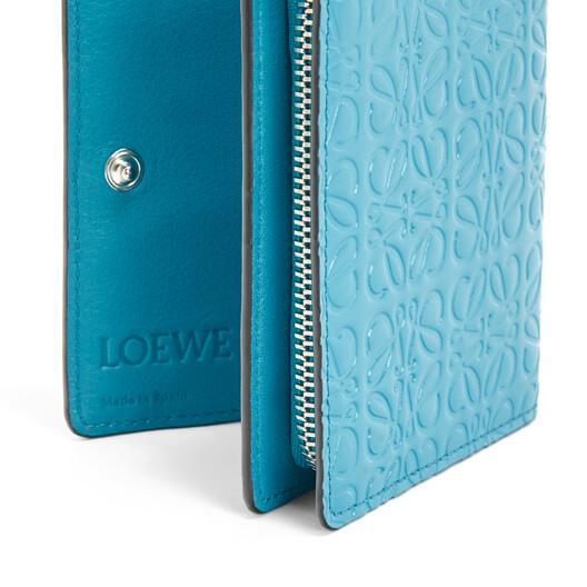 LOEWE Cartera Compact Zip Azul Pavo Real front