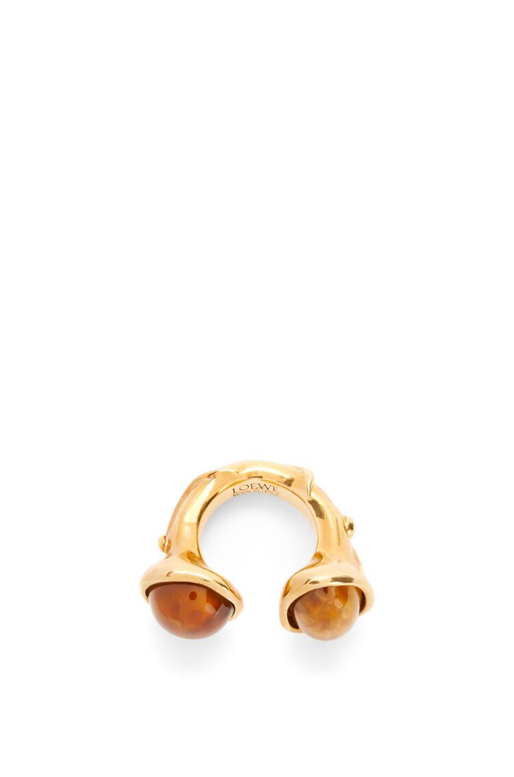 LOEWE Tree ring in metal Brown/Old Gold pdp_rd