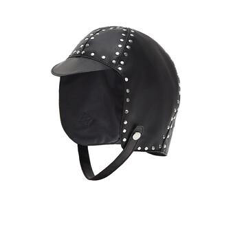 LOEWE Gorra Biker Negro front