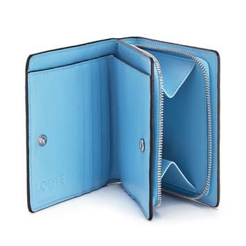 LOEWE Cartera Compact Zip Azul Celeste front