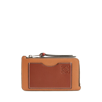 LOEWE Coin Cardholder Large Light Caramel/Pecan Color  front