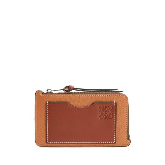 LOEWE Coin Cardholder Large Light Caramel/Pecan Color  front