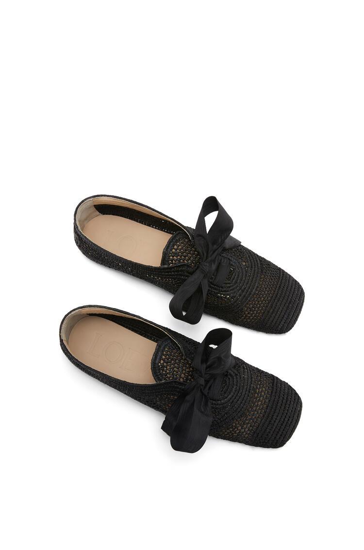 LOEWE Zapato derby en rafia Negro pdp_rd