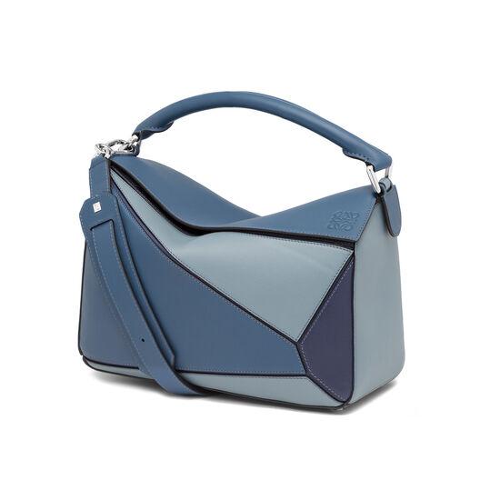 LOEWE Puzzle Bag Varsity Blue Multitone front