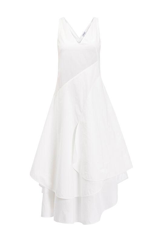 LOEWE Petal Dress White front