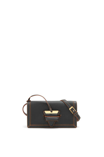 LOEWE Mini Barcelona soft bag in soft grained calfskin Black pdp_rd