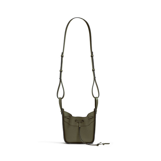 LOEWE Hammock Drawstring Mini Bag Khaki Green front