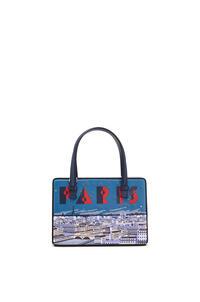 LOEWE Bolso Postal París pequeño en piel de ternera natural Marine Azul pdp_rd