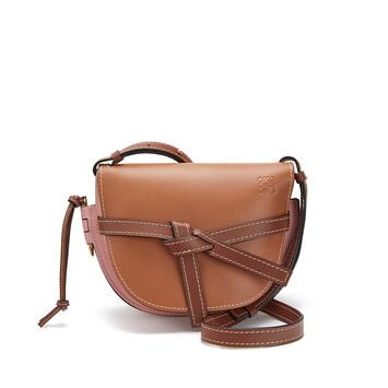 LOEWE Gate Small Bag Tan/Medium Pink front