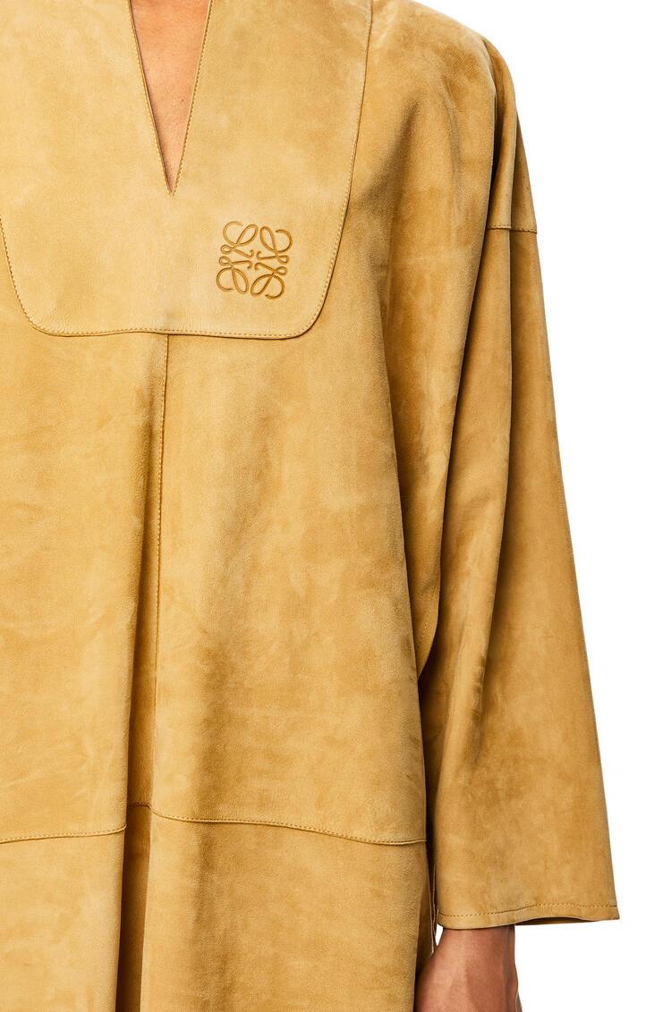 LOEWE Long tunic in suede 金色 pdp_rd