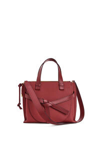 LOEWE Small Gate Top Handle bag in soft grained calfskin Garnet pdp_rd