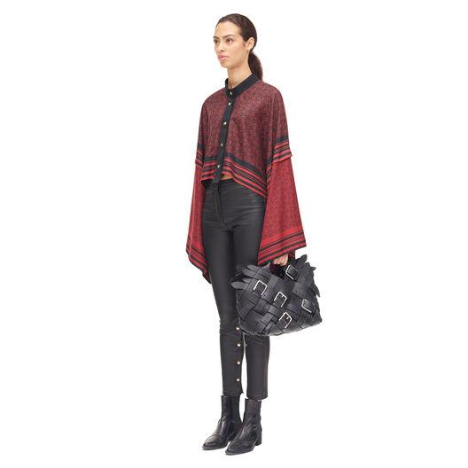 LOEWE Scarf Jacket Negro/Rojo all