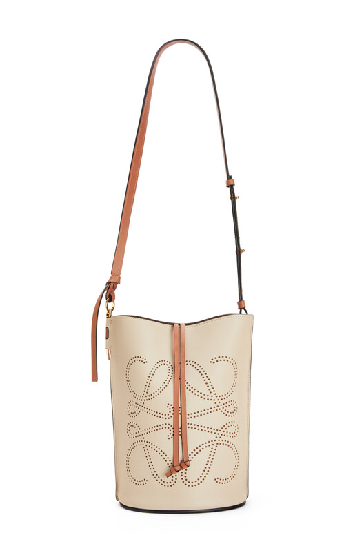LOEWE Gate Bucket Anagram Bag Light Oat/Tan front