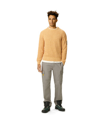 LOEWE Eln Melange Crewneck Sweater Mustard front