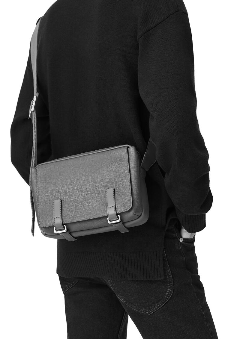 LOEWE XS Military messenger bag in soft grained calfskin Anthracite pdp_rd