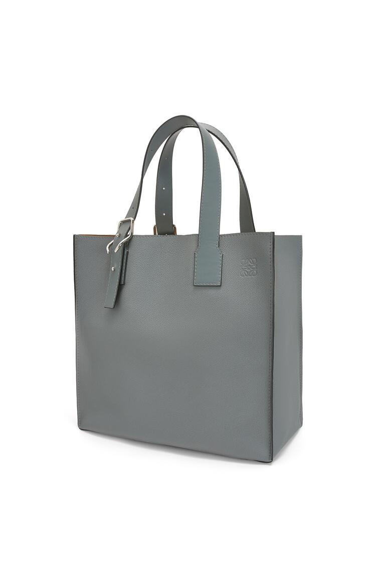 LOEWE Buckle tote bag in soft grained calfskin Gunmetal pdp_rd