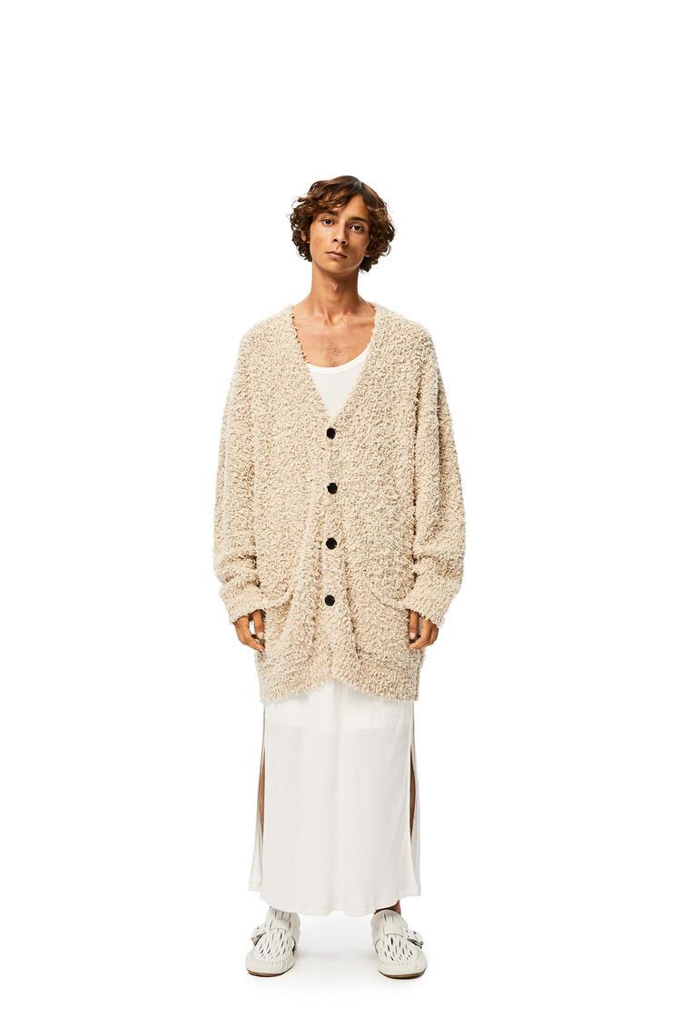 LOEWE Yzzuf cardigan in linen wool Beige pdp_rd