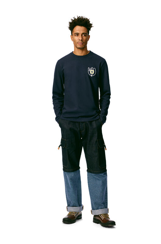 LOEWE Cargo Jeans Blue front