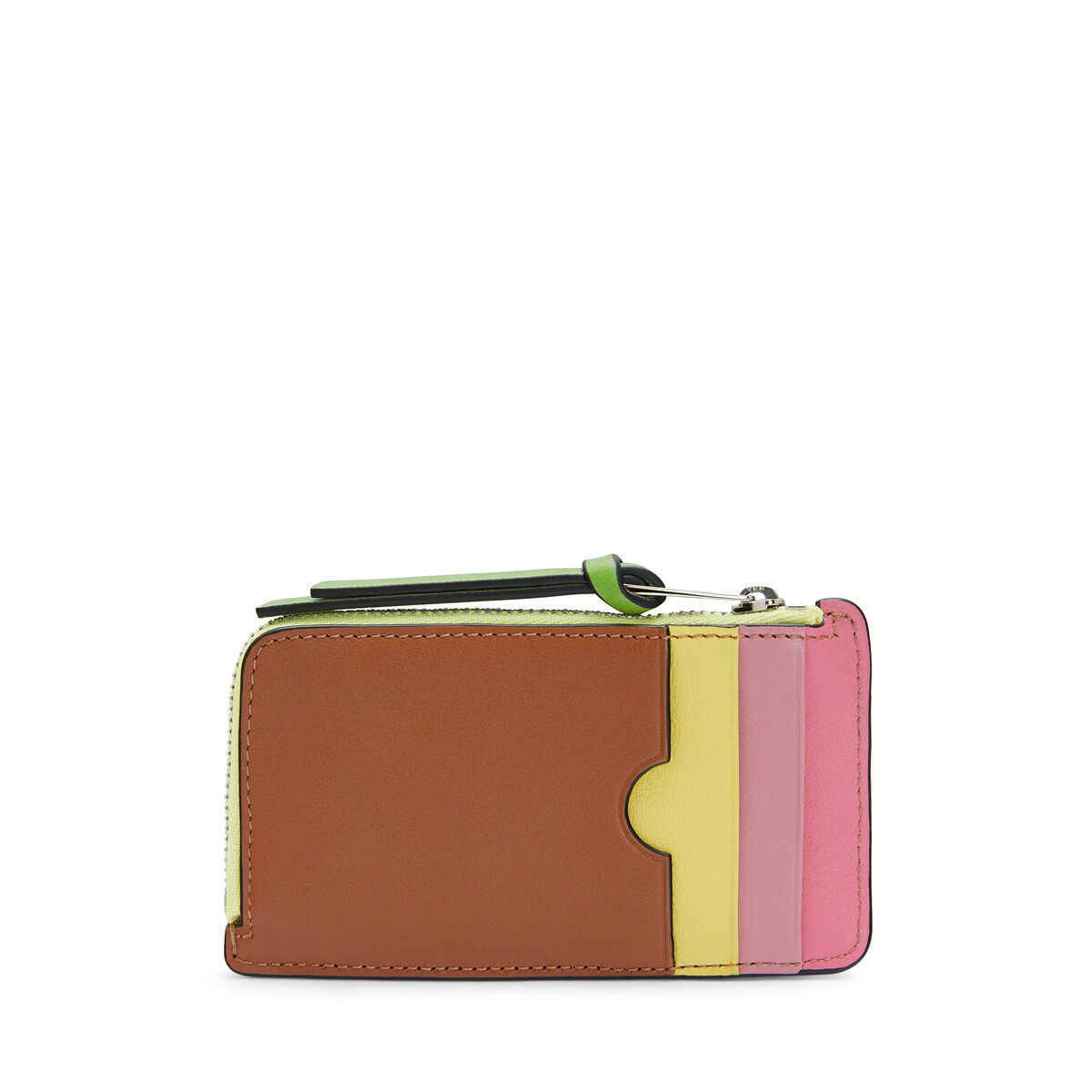 LOEWE Coind Card Holder Rainbow Tan/Multicolor front