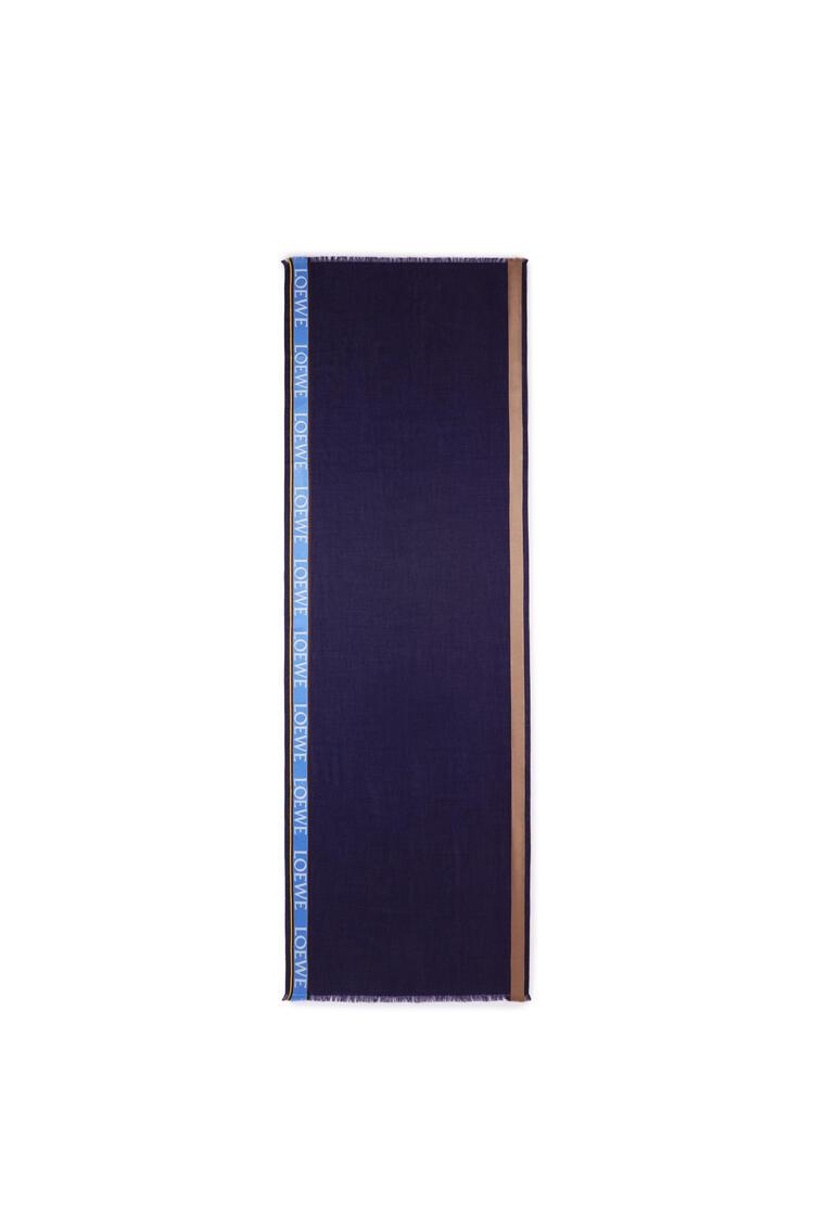 LOEWE LOEWE 印花围巾 蓝色/海军蓝 pdp_rd