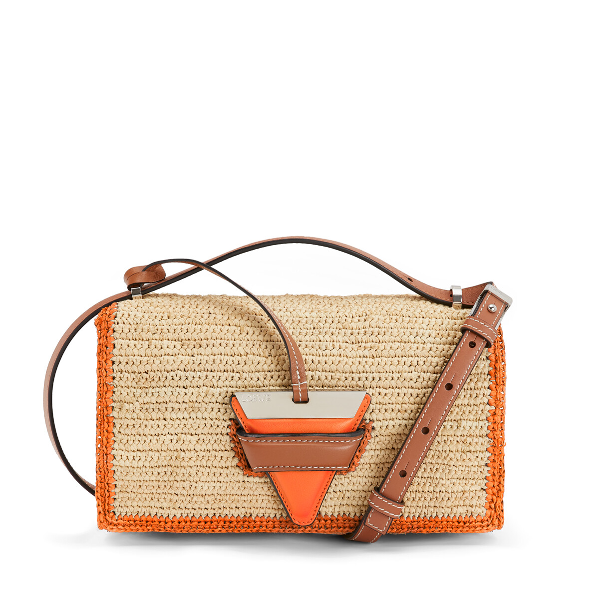 LOEWE Paula's Barcelona Bag Natural/Orange front