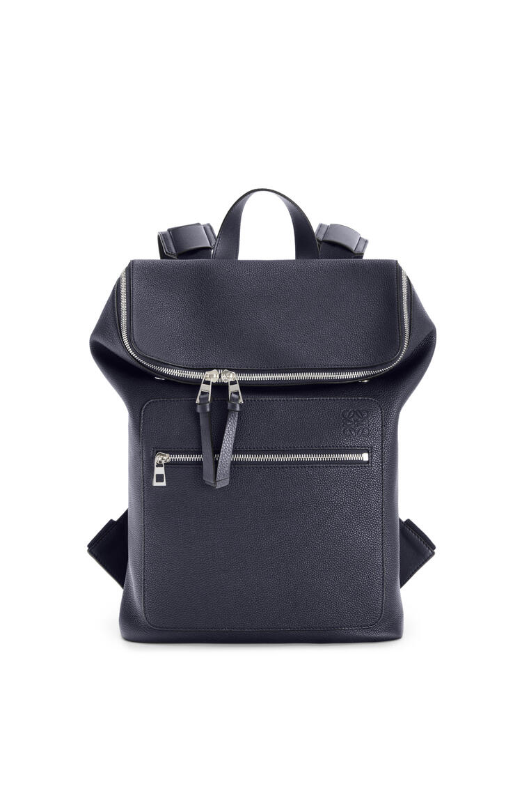 LOEWE Slim Goya Backpack in soft grained calfskin Midnight Blue pdp_rd