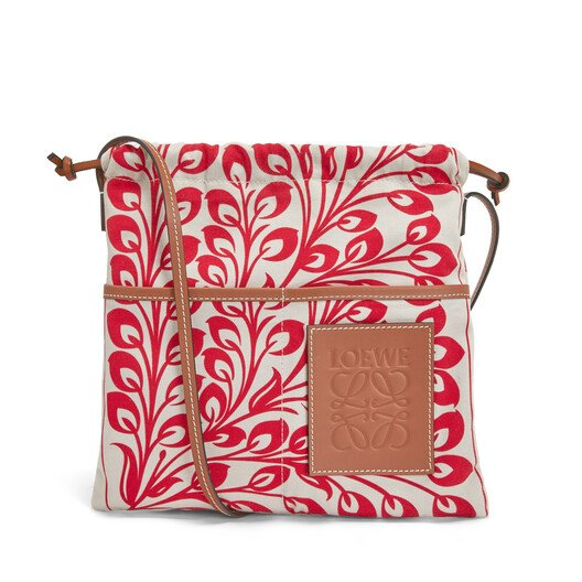 LOEWE Drawstring Pouch Tiles Small 紅 front