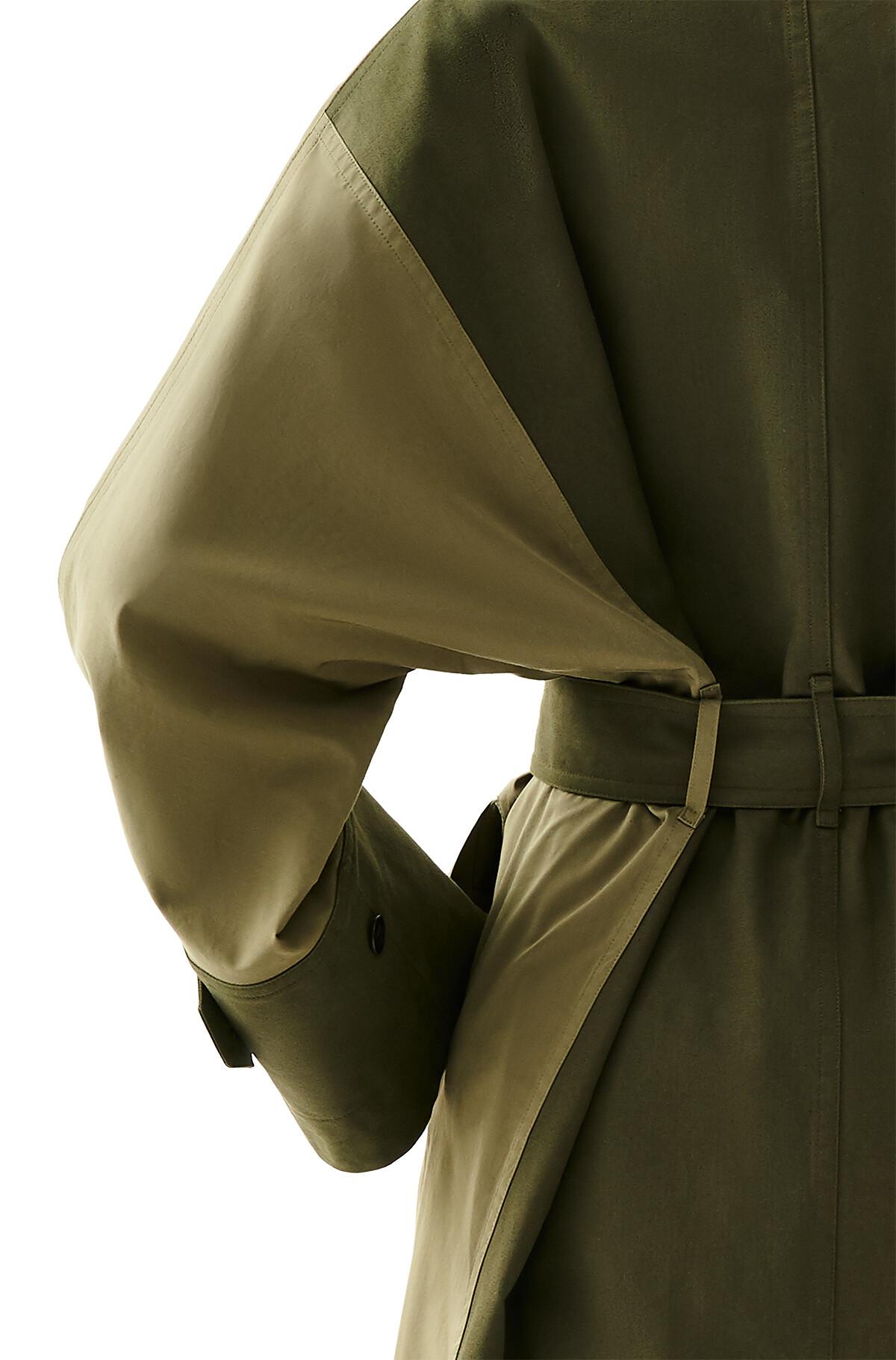 LOEWE Trench Coat Verde Militar front