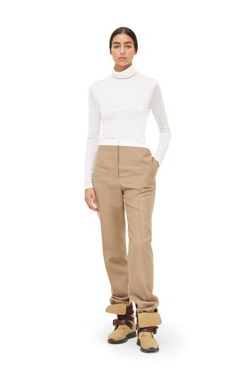 LOEWE Tuxedo Trousers Beige front