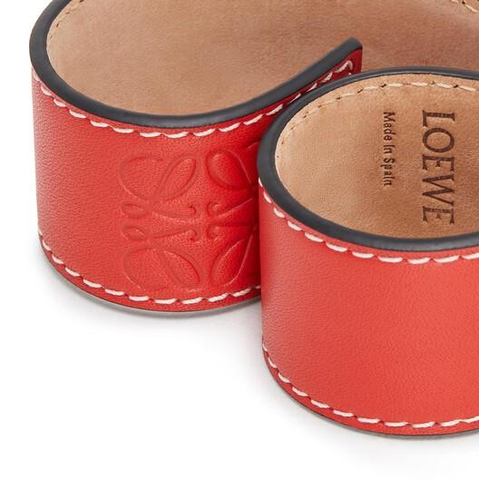 LOEWE Slap Bracelet Small Red front